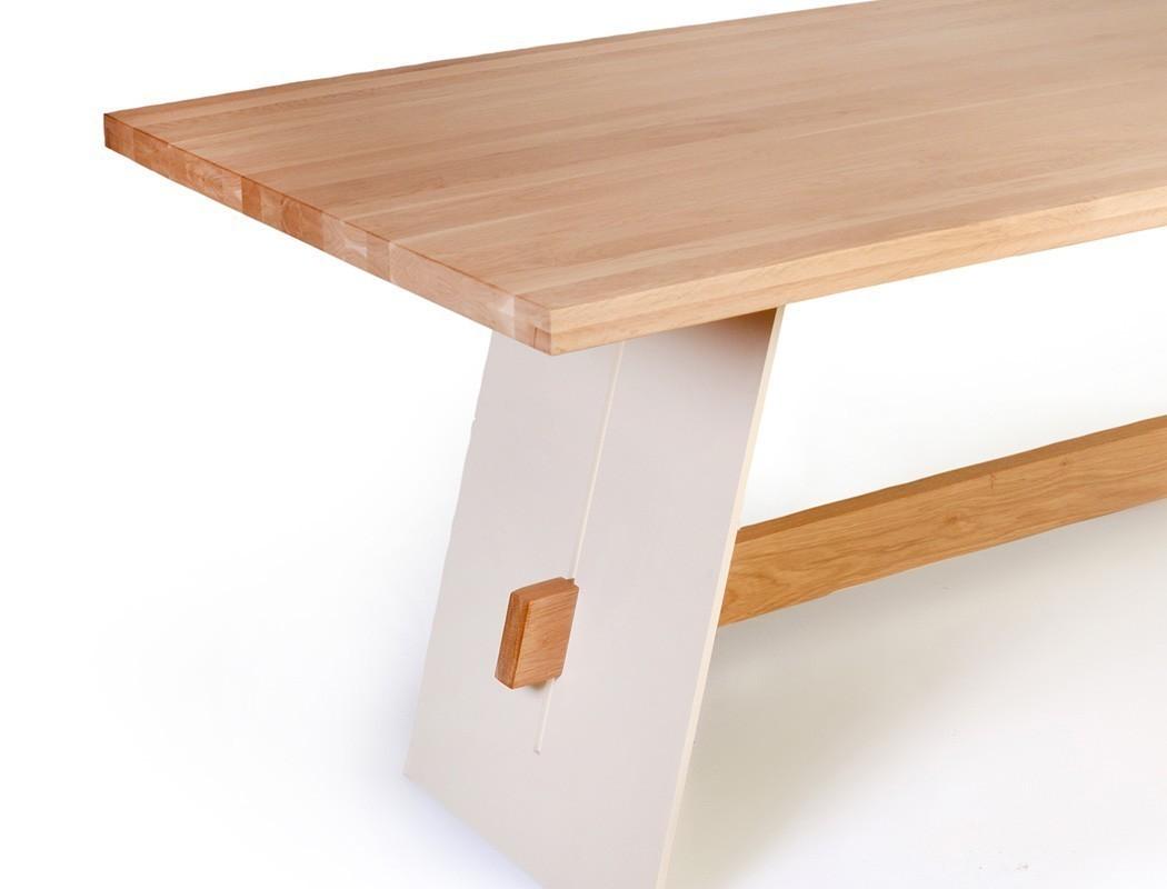 tischgruppe tisch alban eiche natur weiss 6 st hle kaja. Black Bedroom Furniture Sets. Home Design Ideas