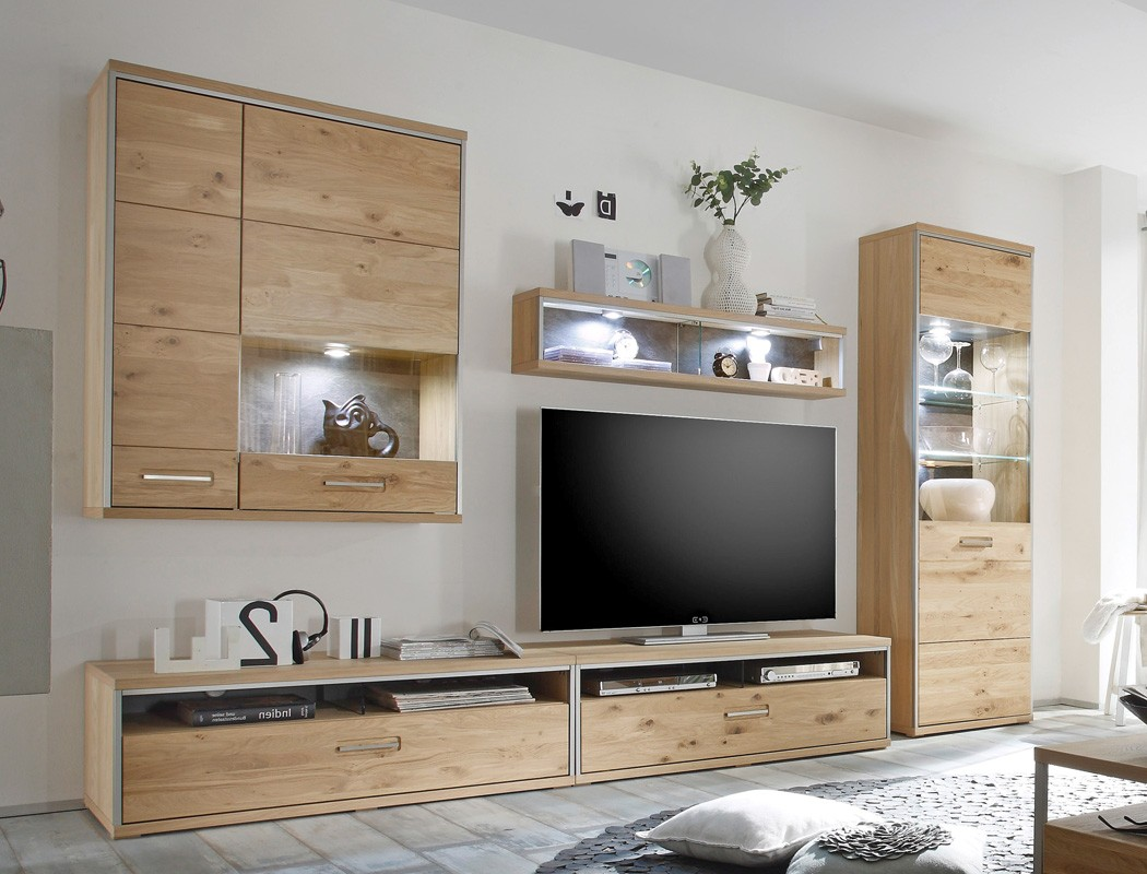 wohnwand esma 23 eiche bianco 5 teilig medienwand tv wand beleuchtung wohnbereiche wohnzimmer. Black Bedroom Furniture Sets. Home Design Ideas