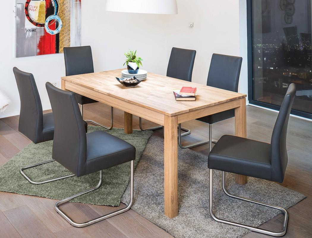 Tischgruppe Tisch Karlo 1XL Eiche bianco + 6 Stühle Kaja ...