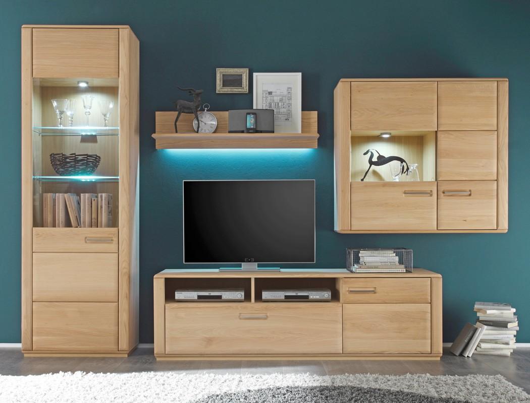 vitrine senta 4 eiche bianco teilmassiv 69x209x38 cm glasvitrine wohnbereiche esszimmer. Black Bedroom Furniture Sets. Home Design Ideas