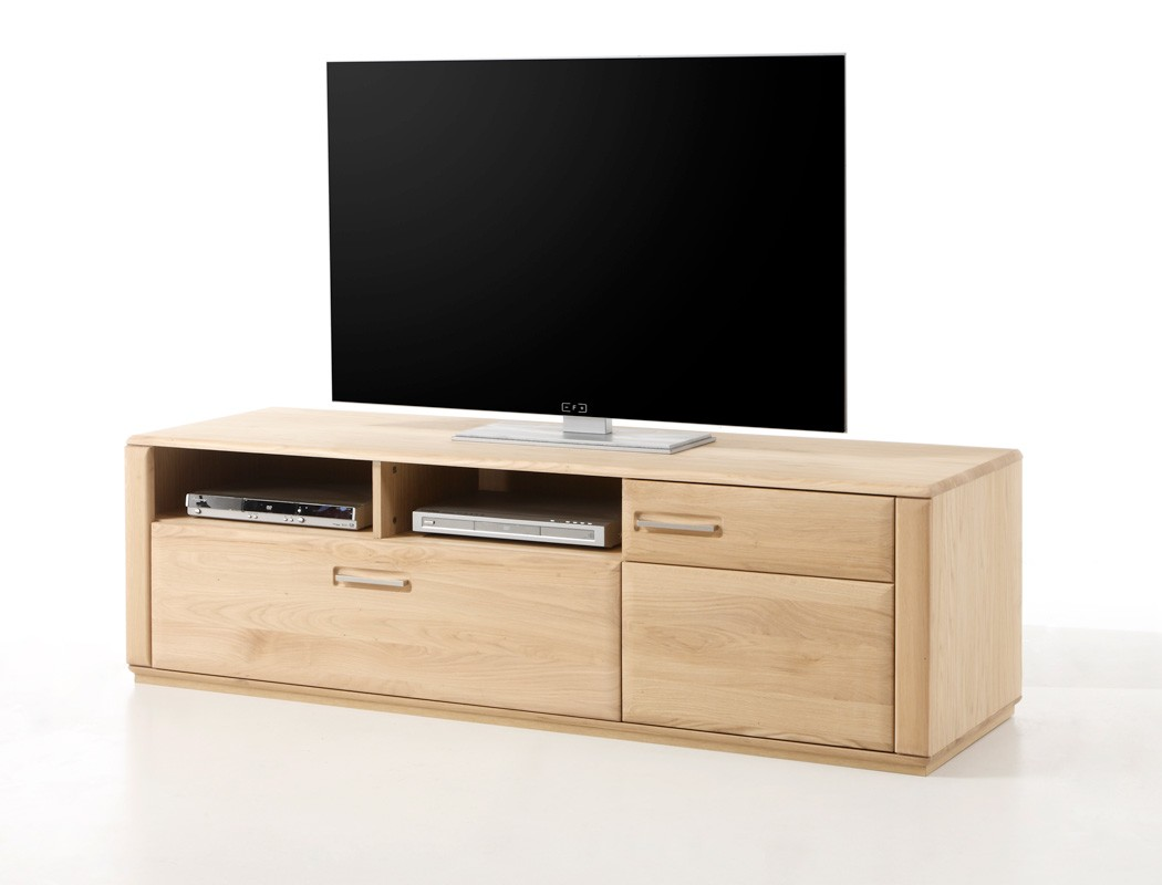 lowboard eiche bianco teilmassiv 179x50x51 cm tv m bel tv. Black Bedroom Furniture Sets. Home Design Ideas