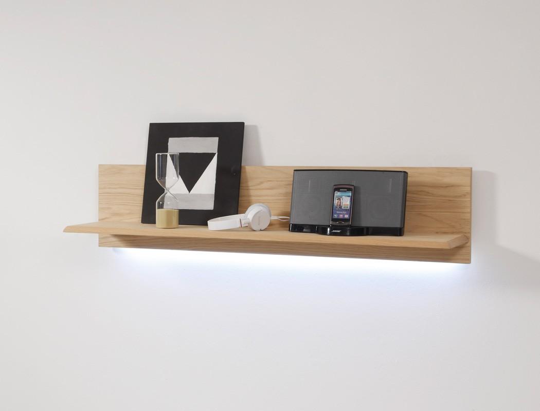 wandboard senta 13 eiche bianco teilmassiv 110x25x25cm. Black Bedroom Furniture Sets. Home Design Ideas