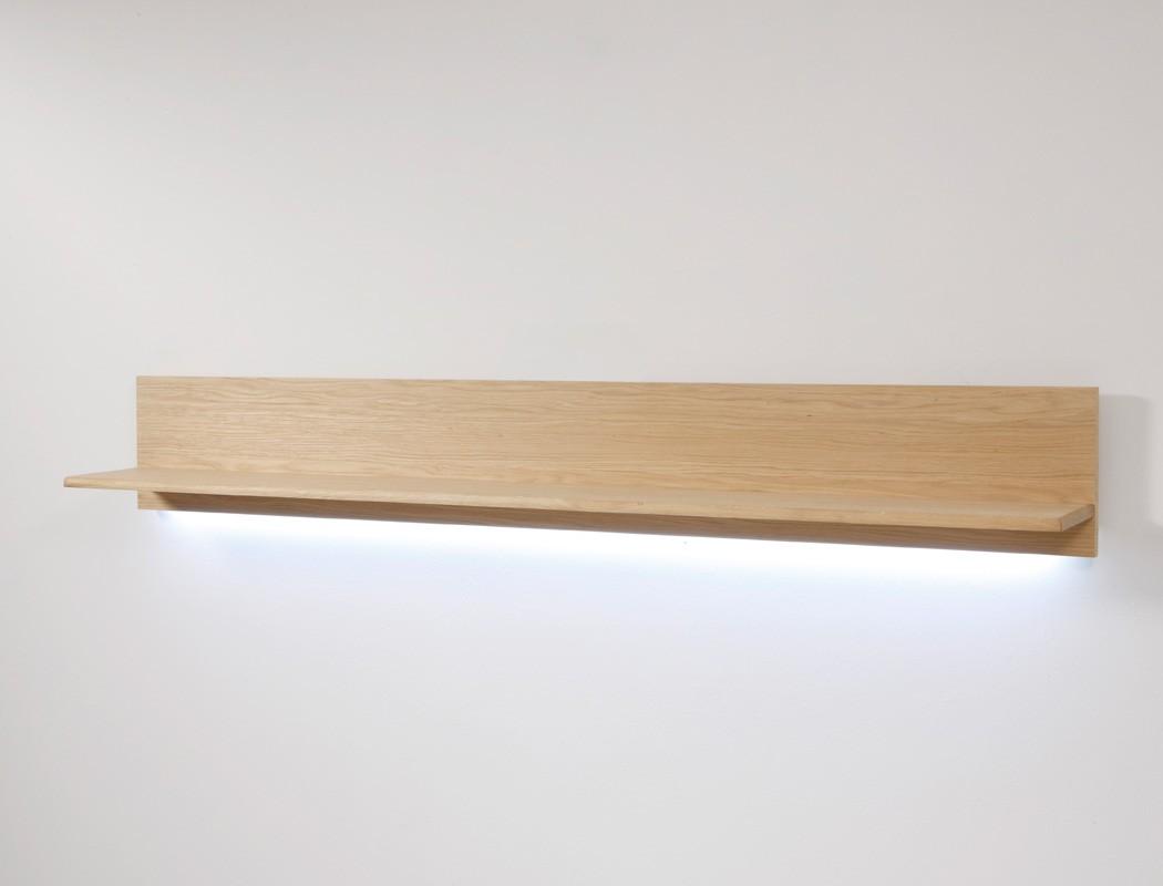 wandboard eiche bianco teilmassiv 179x25x25cm wandregal. Black Bedroom Furniture Sets. Home Design Ideas