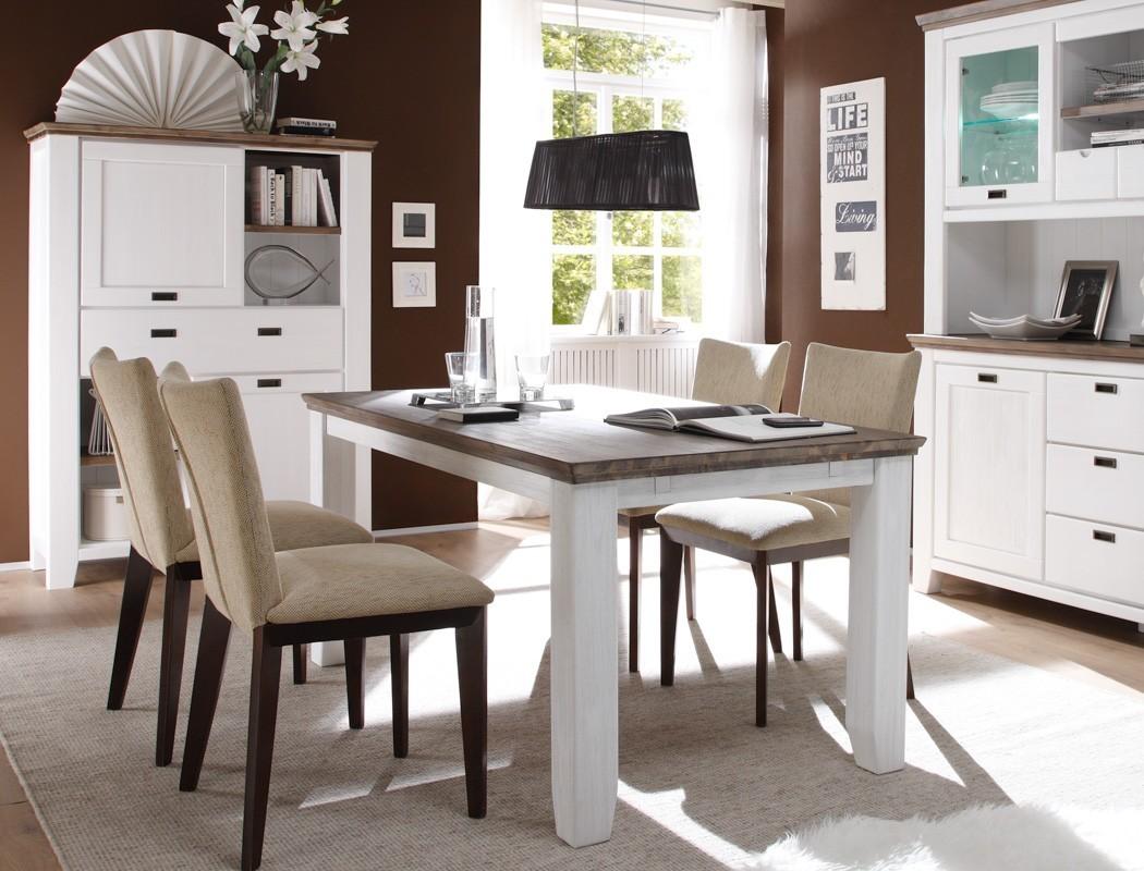 esstisch 160x90x75 cm akazie wei tisch esszimmertisch k chentisch barnelund ebay. Black Bedroom Furniture Sets. Home Design Ideas