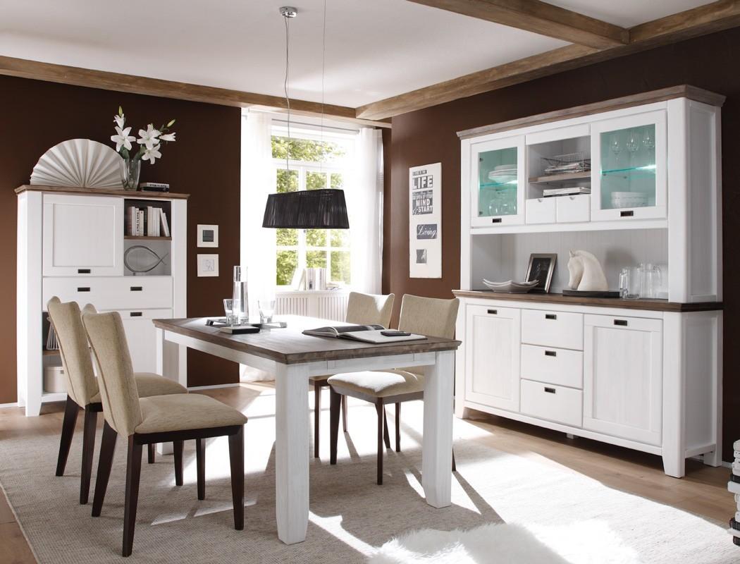 Esstisch barnelund 160x90x75 cm akazie wei tisch for Esszimmer dekorieren