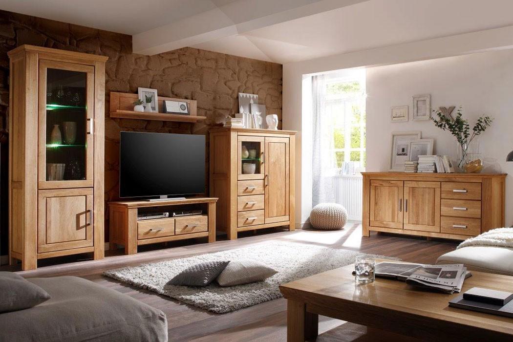 vitrine schmal viterbo 83x210x47 cm wildeiche teilmassiv glasschrank wohnbereiche esszimmer. Black Bedroom Furniture Sets. Home Design Ideas