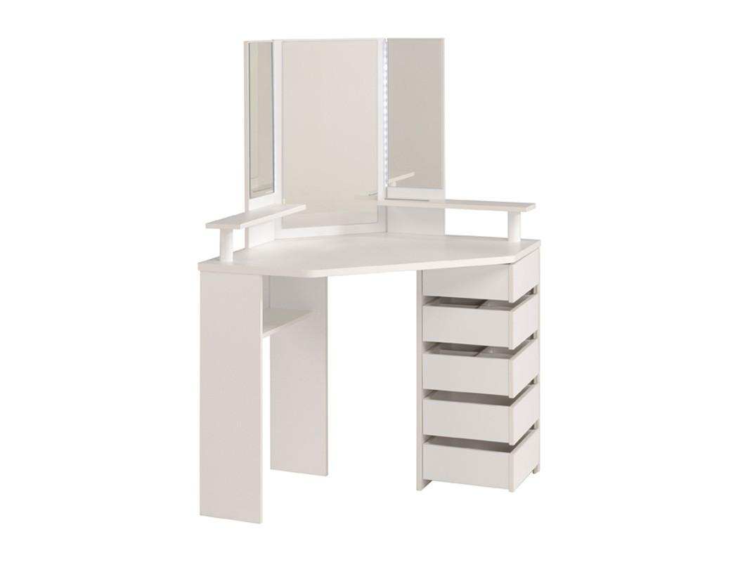 schminktisch weiss 114x141x62 cm spiegel 5x schubkasten frisierkommode volana 11 ebay. Black Bedroom Furniture Sets. Home Design Ideas