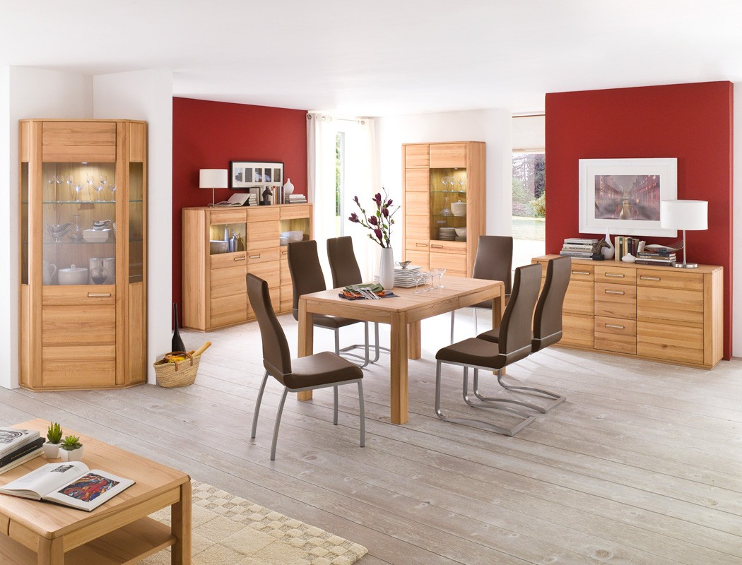 sideboard kernbuche teilmassiv 161x85x47 cm anrichte. Black Bedroom Furniture Sets. Home Design Ideas
