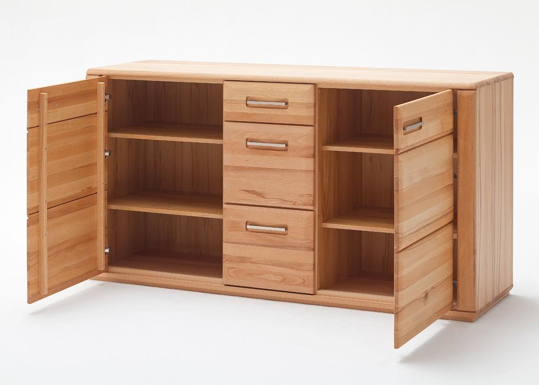 sideboard senta 1 kernbuche teilmassiv 161x85x47 cm anrichte schrank wohnbereiche wohnzimmer. Black Bedroom Furniture Sets. Home Design Ideas