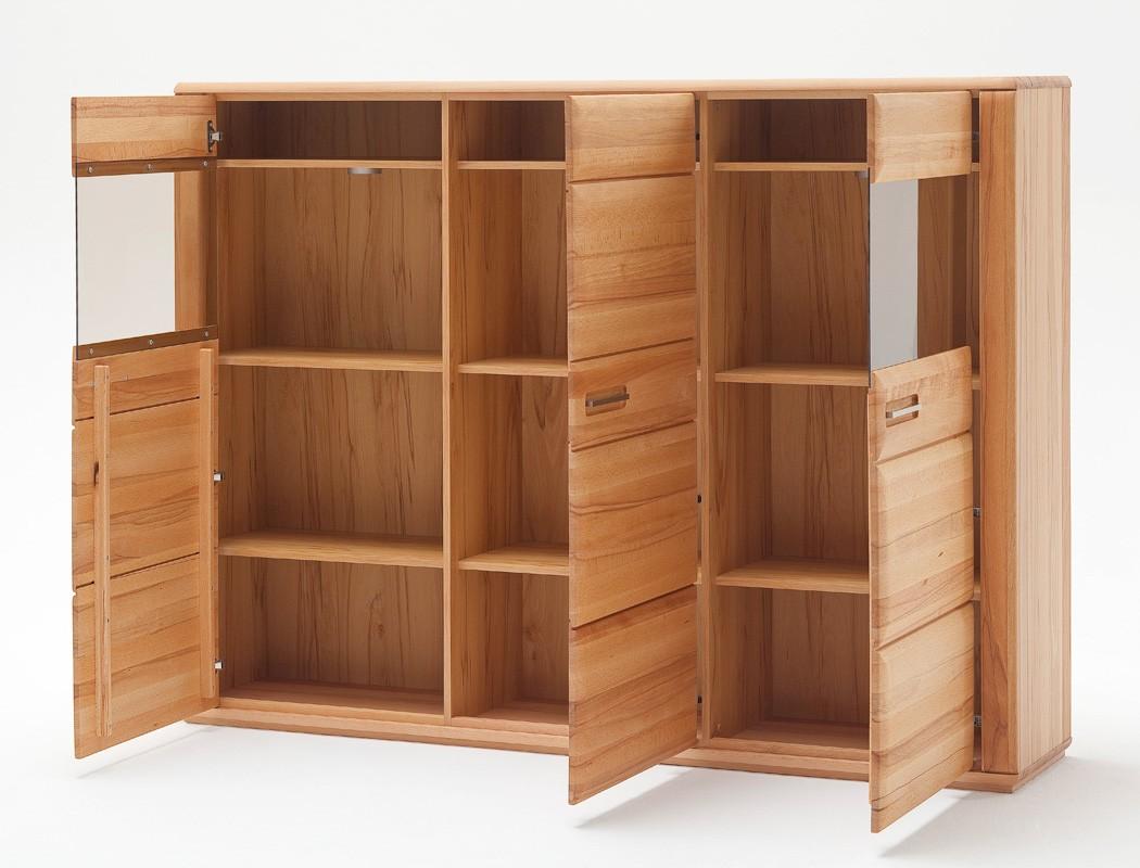 highboard senta 2 kernbuche teilmassiv 179x131x38cm schrank vitrine wohnbereiche esszimmer. Black Bedroom Furniture Sets. Home Design Ideas