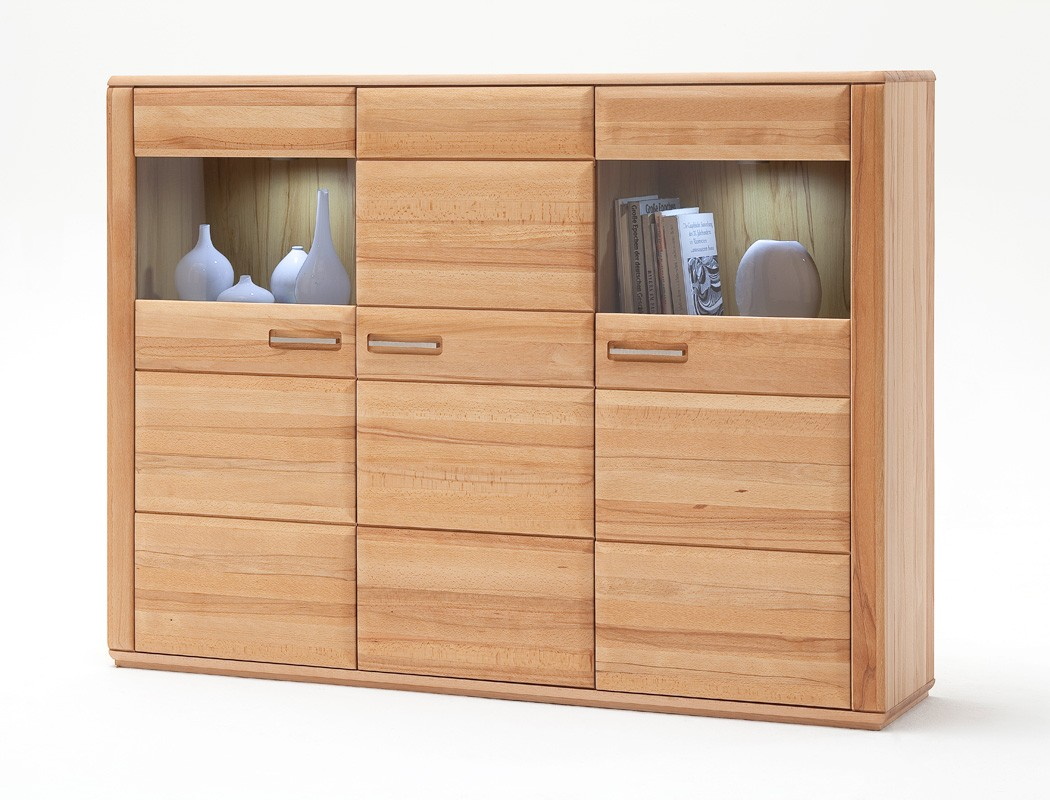 highboard senta 2 kernbuche teilmassiv 179x131x38cm schrank vitrine wohnbereiche esszimmer. Black Bedroom Furniture Sets. Home Design Ideas