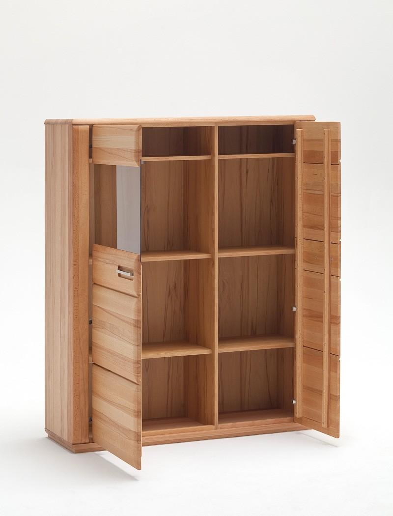 highboard senta 3 kernbuche teilmassiv 107x132x38cm schrank vitrine wohnbereiche esszimmer. Black Bedroom Furniture Sets. Home Design Ideas