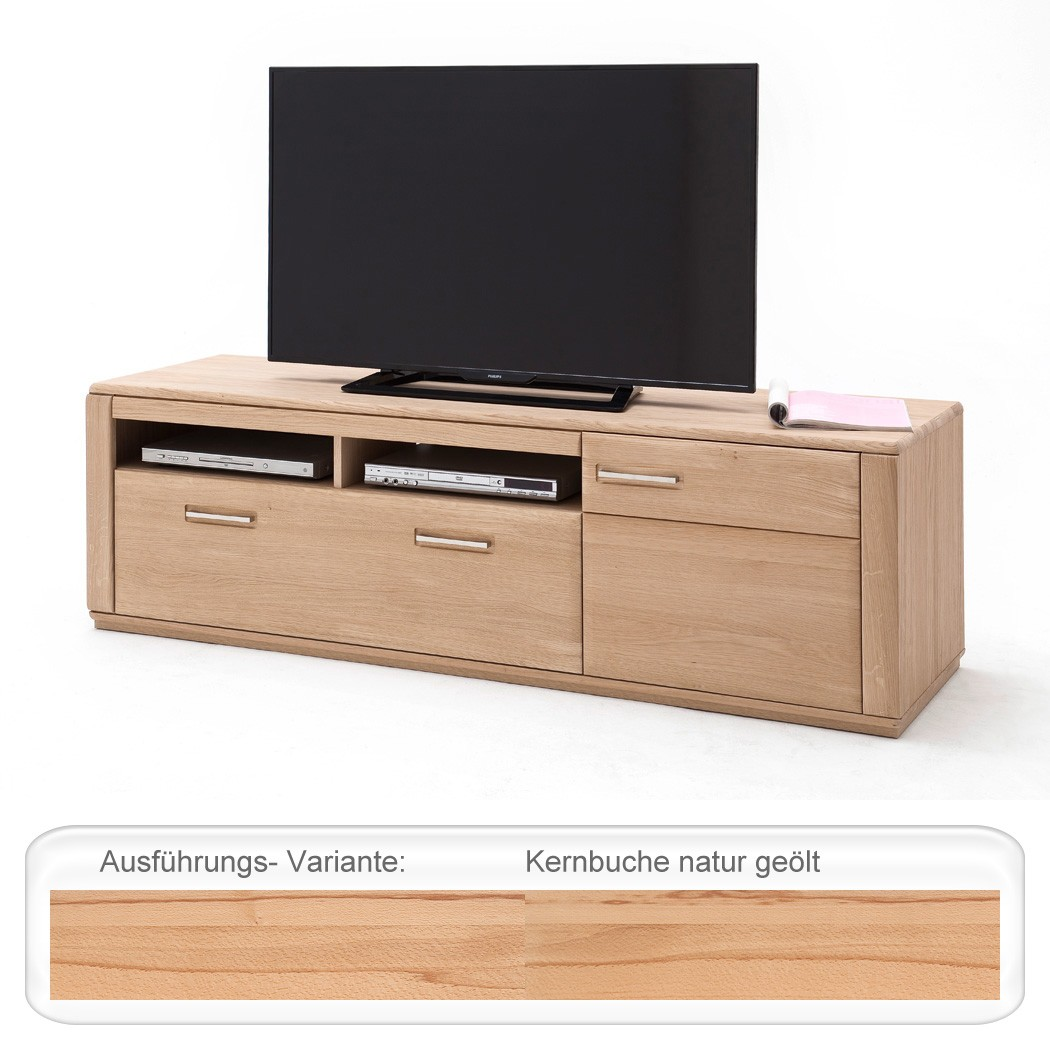 lowboard kernbuche teilmassiv 179x54x51 tv m bel tv schrank wohnzimmer senta 10 ebay. Black Bedroom Furniture Sets. Home Design Ideas