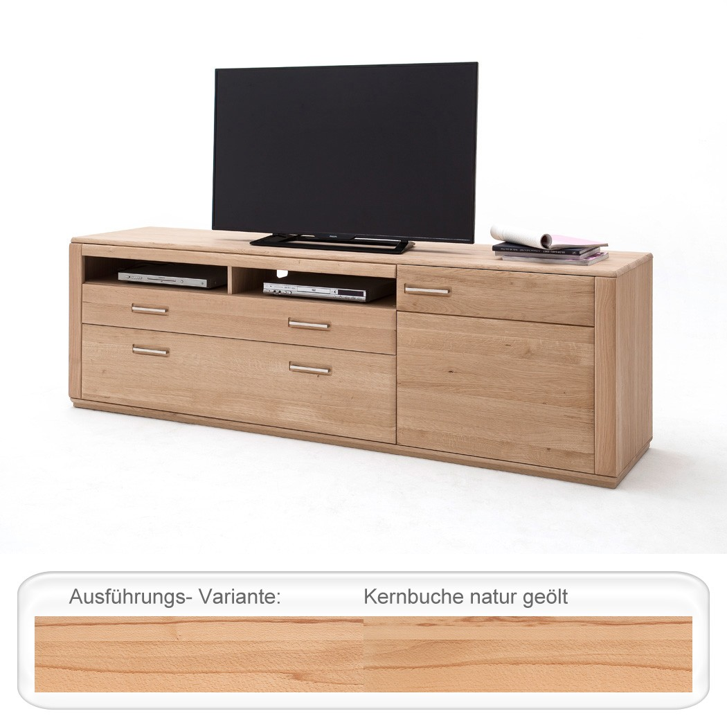 lowboard senta 11 kernbuche 224x70x51 cm tv m bel tv schrank wohnbereiche wohnzimmer tv. Black Bedroom Furniture Sets. Home Design Ideas