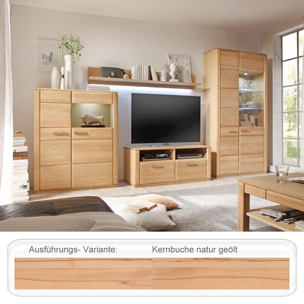 wohnwand senta 24 kernbuche teilmassiv 4 teilig medienwand tv wand wohnbereiche wohnzimmer wohnw nde. Black Bedroom Furniture Sets. Home Design Ideas