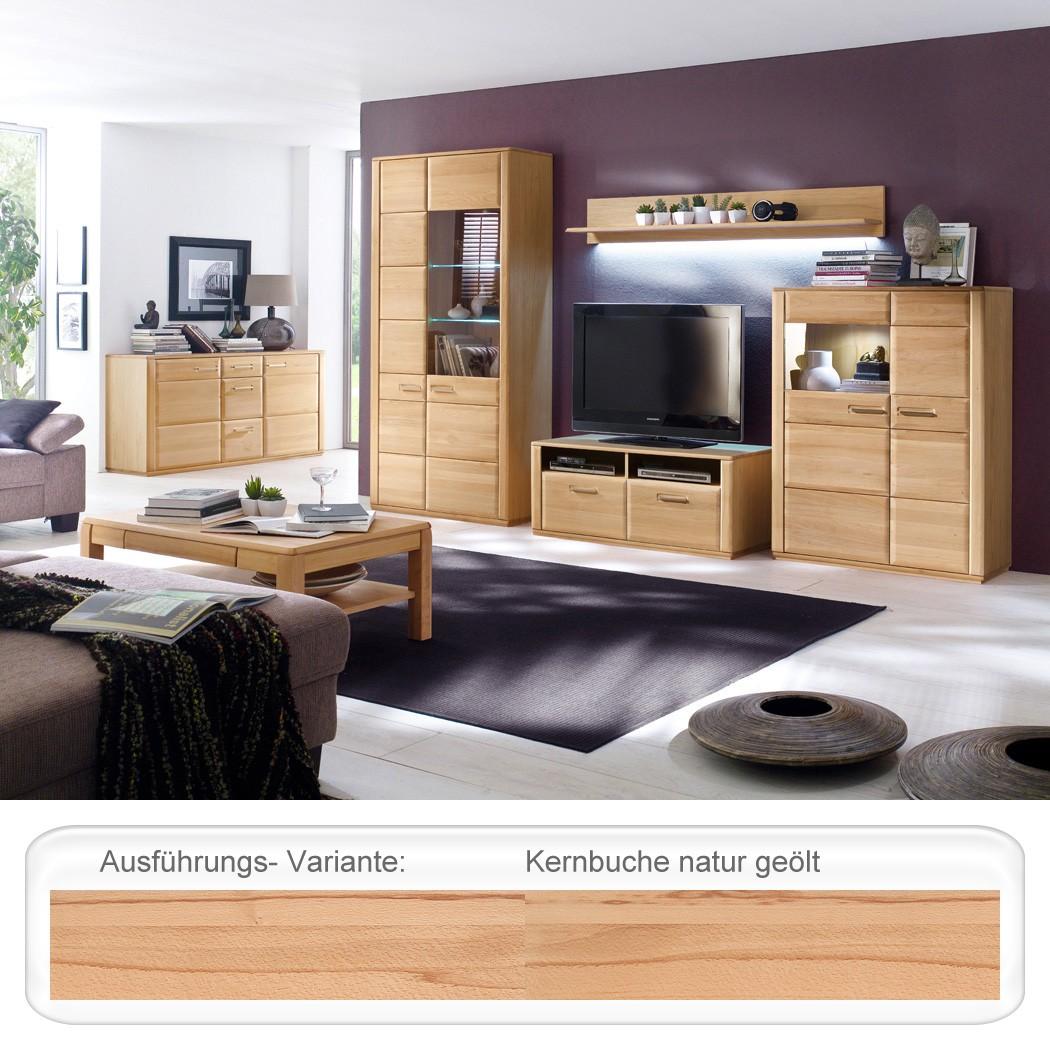 wohnzimmer kernbuche teilmassiv 6 teilig wohnm bel. Black Bedroom Furniture Sets. Home Design Ideas
