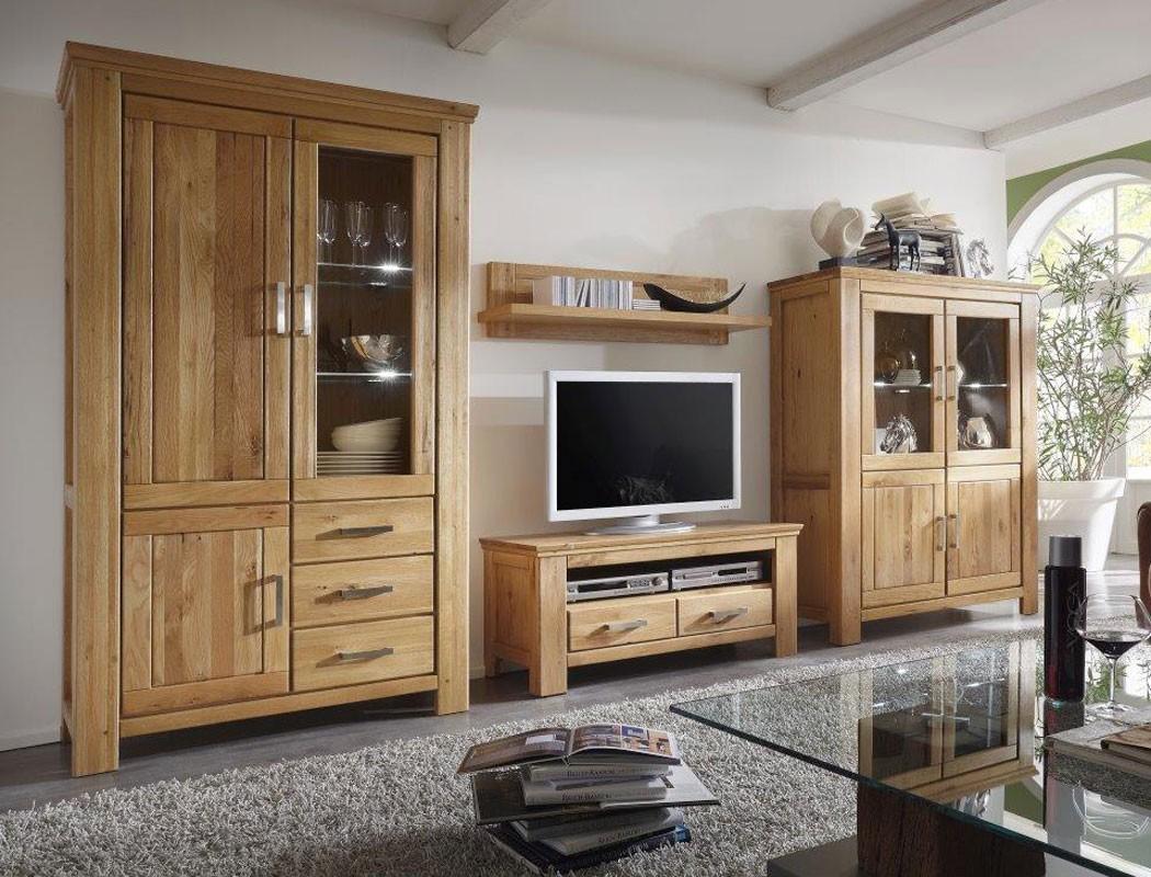 wohnwand wildeiche 4 teilig teilmassiv medienwand tv wand wohnzimmer viterbo 2 ebay. Black Bedroom Furniture Sets. Home Design Ideas