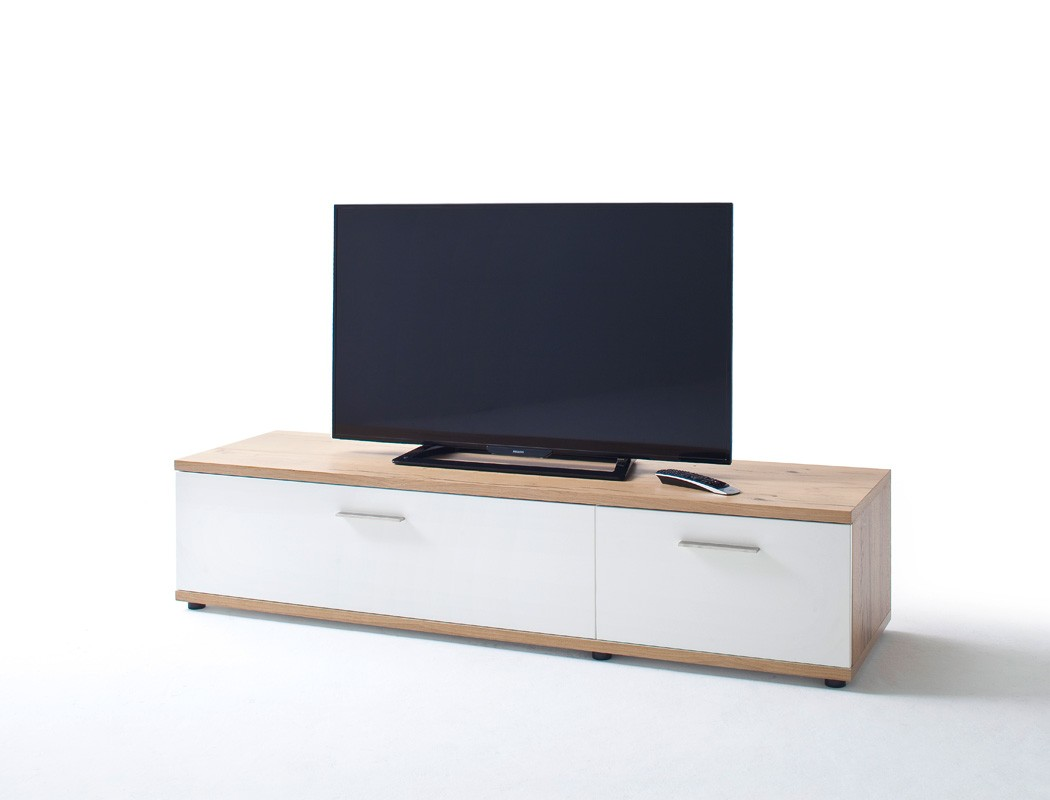 lowboard nina 7 wei crack eiche 180x40x50 cm tv m bel tv schrank wohnbereiche wohnzimmer tv. Black Bedroom Furniture Sets. Home Design Ideas