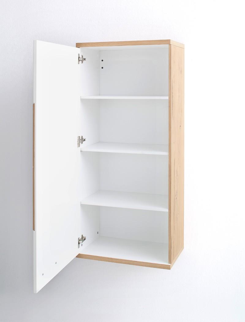 h ngeschrank nina 9 wei crack eiche 60x134x37 cm schrank wohnzimmer wohnbereiche esszimmer. Black Bedroom Furniture Sets. Home Design Ideas