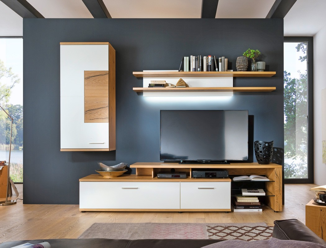 100 wohnzimmerschrank mit viel stauraum tv wohnwand. Black Bedroom Furniture Sets. Home Design Ideas