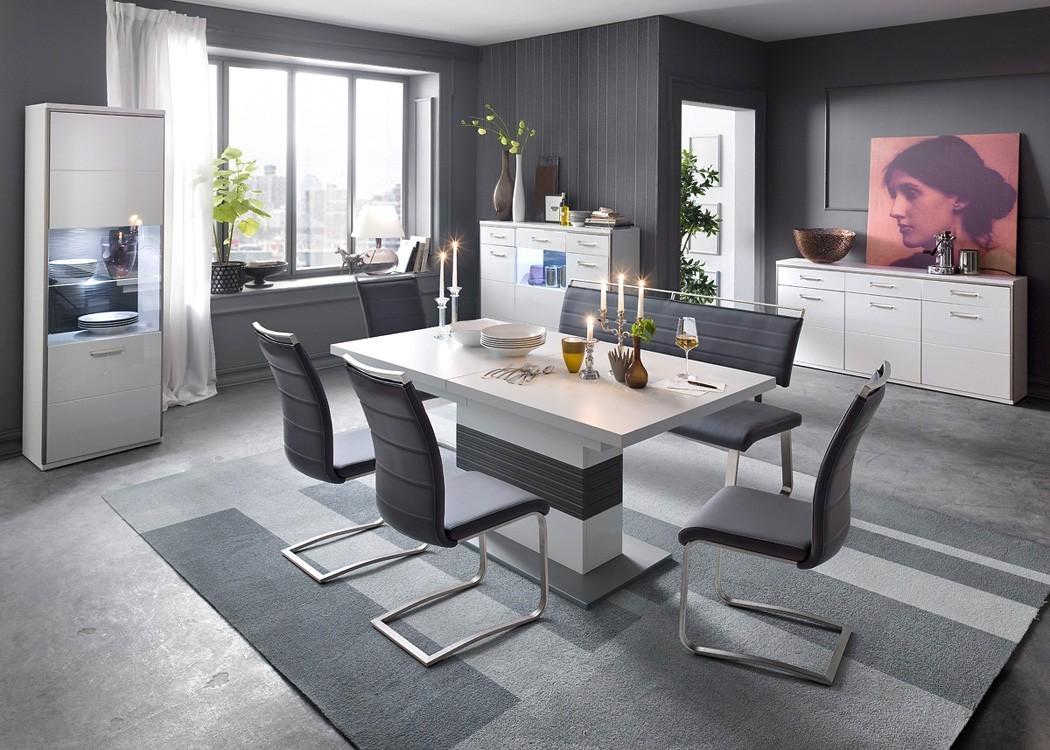 6x schwingstuhl perry varianten freischwinger polsterstuhl esszimmer wohnbereiche esszimmer - Polsterstuhl esszimmer ...