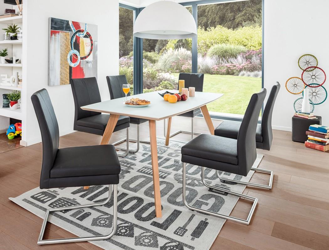 esstisch tromsa bootsform vidrio weiss buche 6 schwinger gonda fango wohnbereiche esszimmer. Black Bedroom Furniture Sets. Home Design Ideas