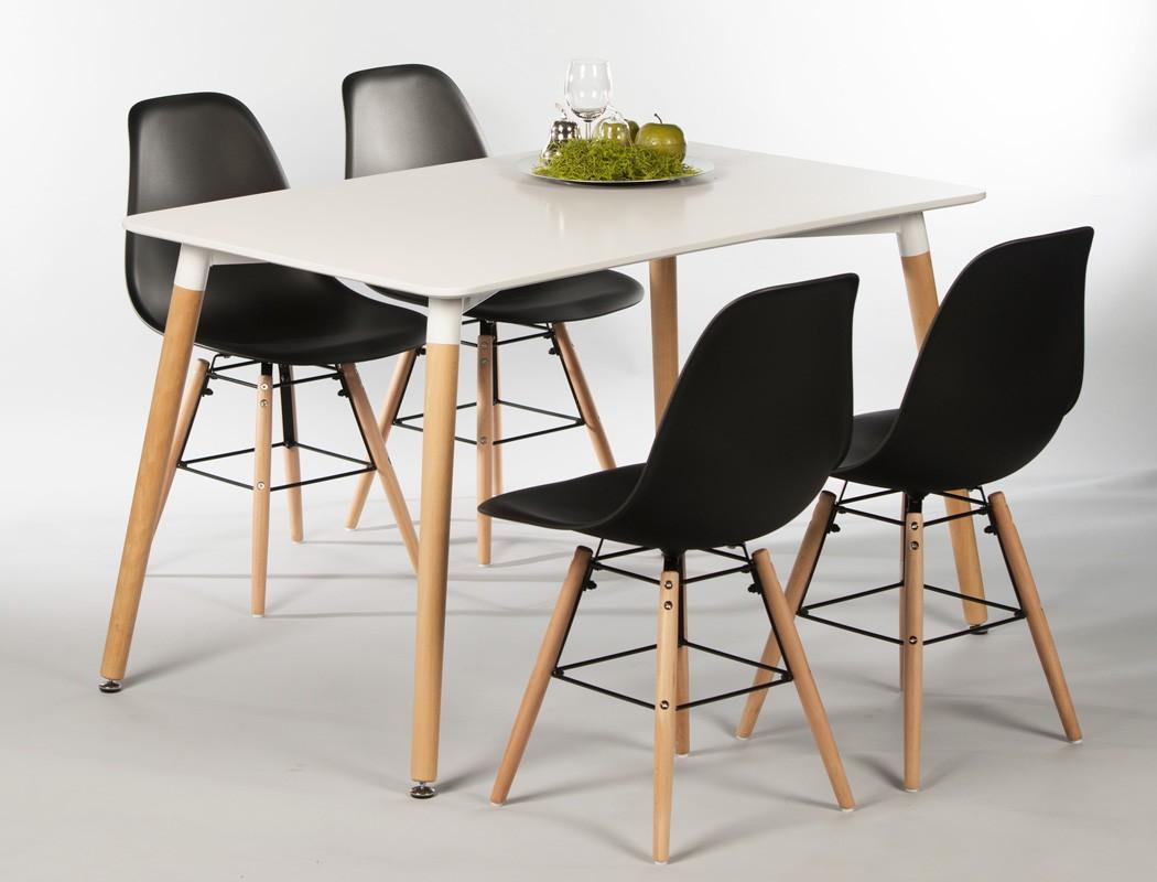 4x stuhl ronald schwarz esszimmerstuhl k chenstuhl for Esszimmer schalenstuhl