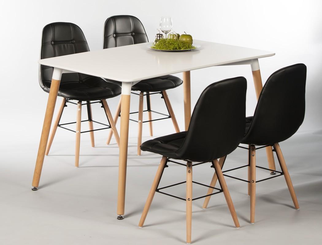 Polsterstuhl tobias schwarz gestell buche esszimmerstuhl for Stuhl tobias
