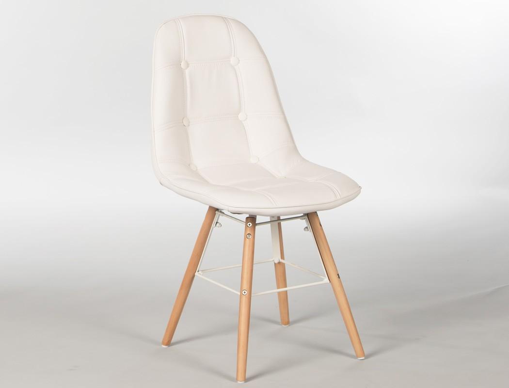 4x polsterstuhl tobias wei gestell buche esszimmerstuhl k chenstuhl wohnbereiche esszimmer. Black Bedroom Furniture Sets. Home Design Ideas