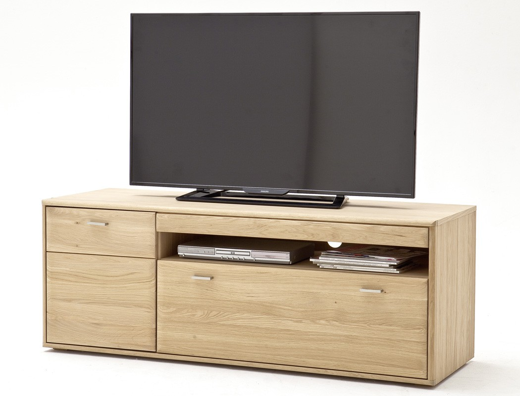 lowboard eiche bianco massiv 149x56x52 tv m bel tv schrank. Black Bedroom Furniture Sets. Home Design Ideas