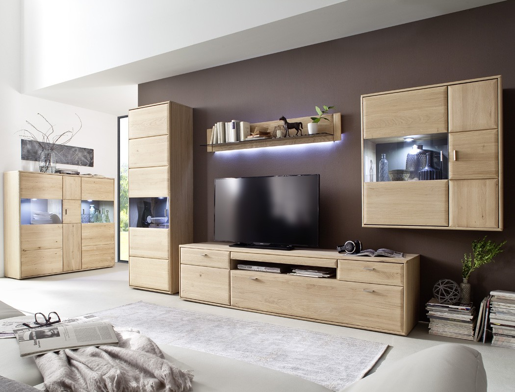 lowboard eiche bianco massiv 214x56x52 tv m bel tv schrank. Black Bedroom Furniture Sets. Home Design Ideas