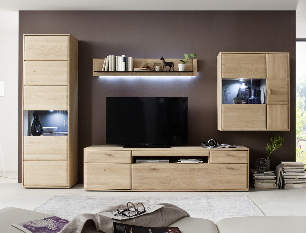 lowboard torrent 4 eiche bianco massiv 214x56x52 tv m bel. Black Bedroom Furniture Sets. Home Design Ideas