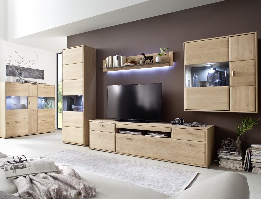 vitrine torrent 7 rechts eiche bianco massiv 64x206x39 cm glasvitrine wohnbereiche esszimmer. Black Bedroom Furniture Sets. Home Design Ideas
