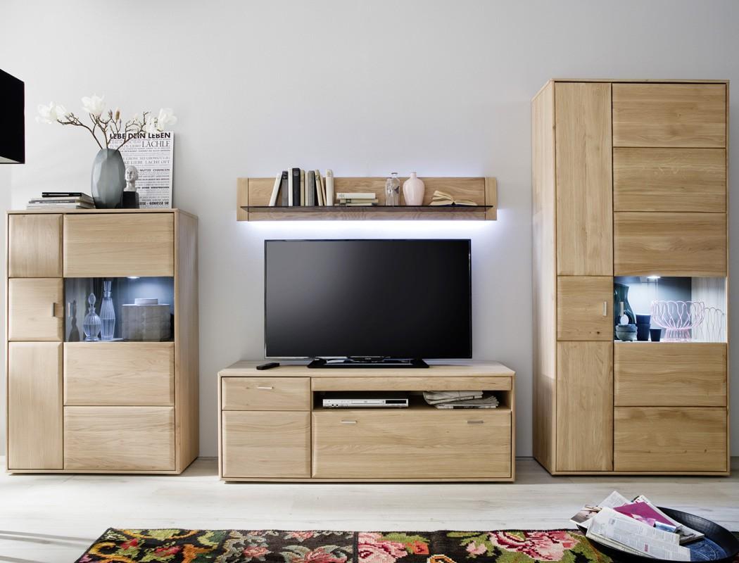 wohnzimmerschrank torrent 8 eiche bianco massiv 94x206x39. Black Bedroom Furniture Sets. Home Design Ideas