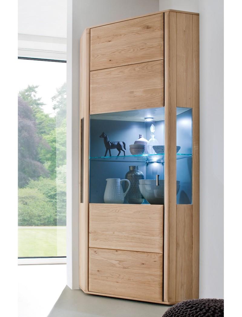 eckvitrine torrent 9 eiche bianco massiv 69x206x69 cm eckschrank wohnbereiche wohnzimmer. Black Bedroom Furniture Sets. Home Design Ideas