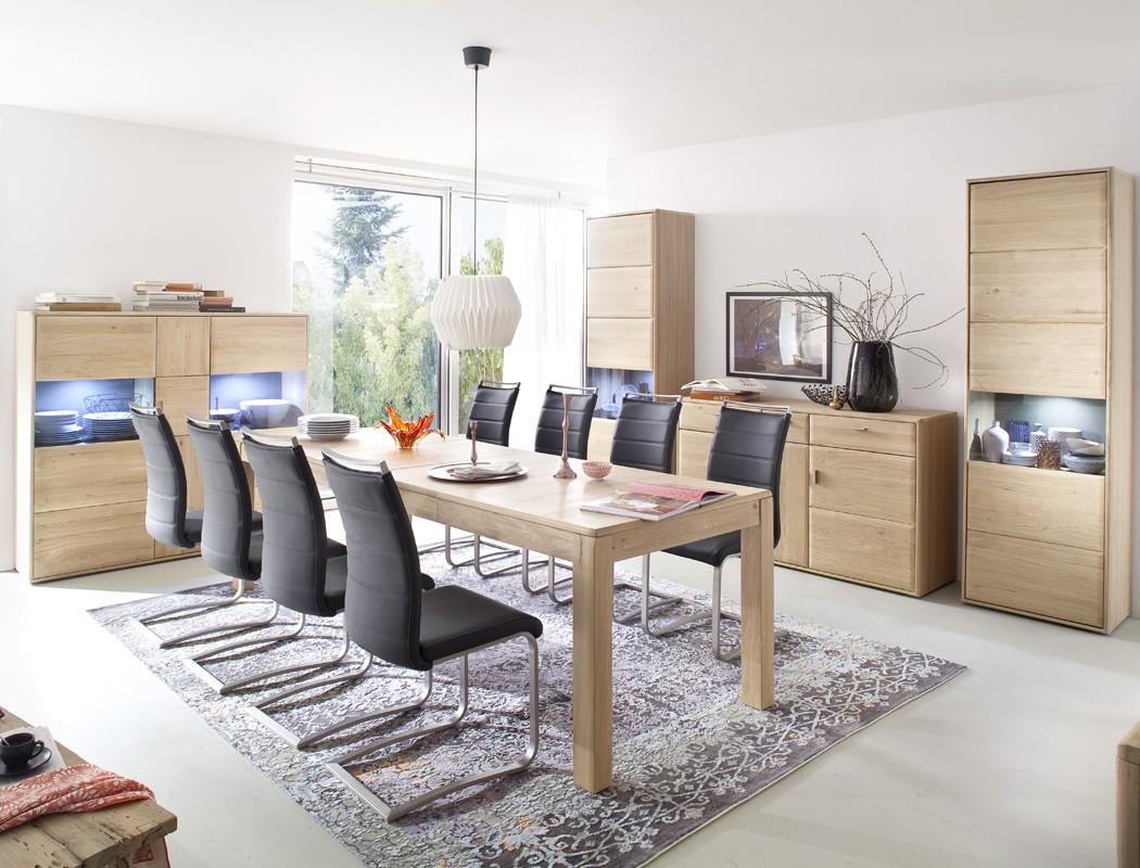 esstisch torrent 13 eiche bianco 160 260 x90x78 ausziehtisch holztisch wohnbereiche esszimmer. Black Bedroom Furniture Sets. Home Design Ideas