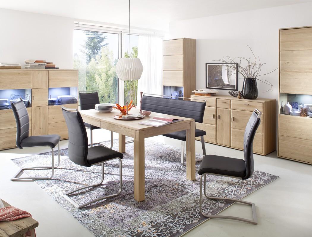 esstisch eiche bianco 160 260 x90x78 cm ausziehtisch wohnzimmertisch torrent 13 ebay. Black Bedroom Furniture Sets. Home Design Ideas