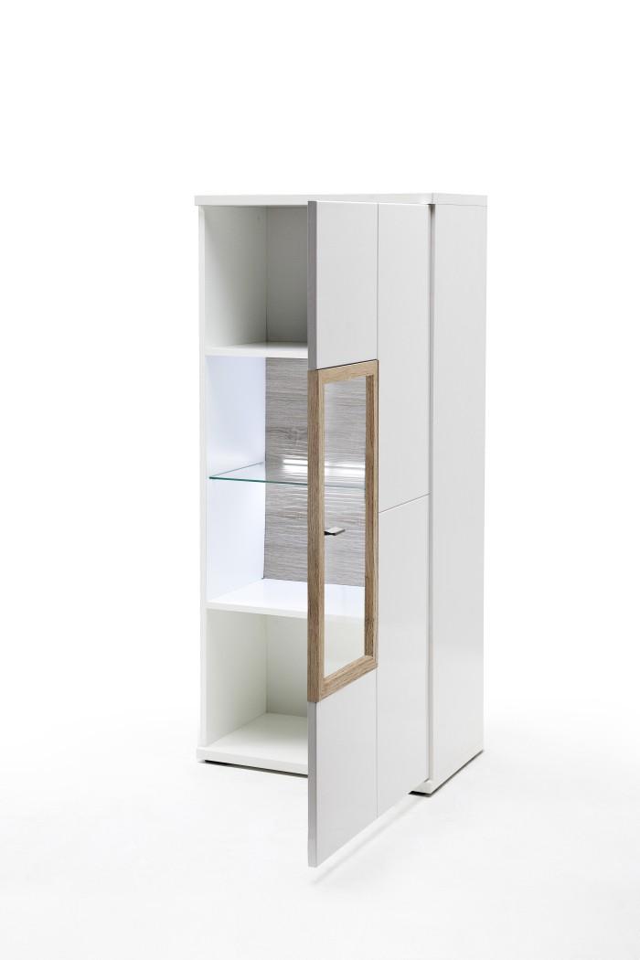highboard parla 3 wei hochglanz 60x140x37 cm schrank wohnzimmer wohnbereiche esszimmer. Black Bedroom Furniture Sets. Home Design Ideas
