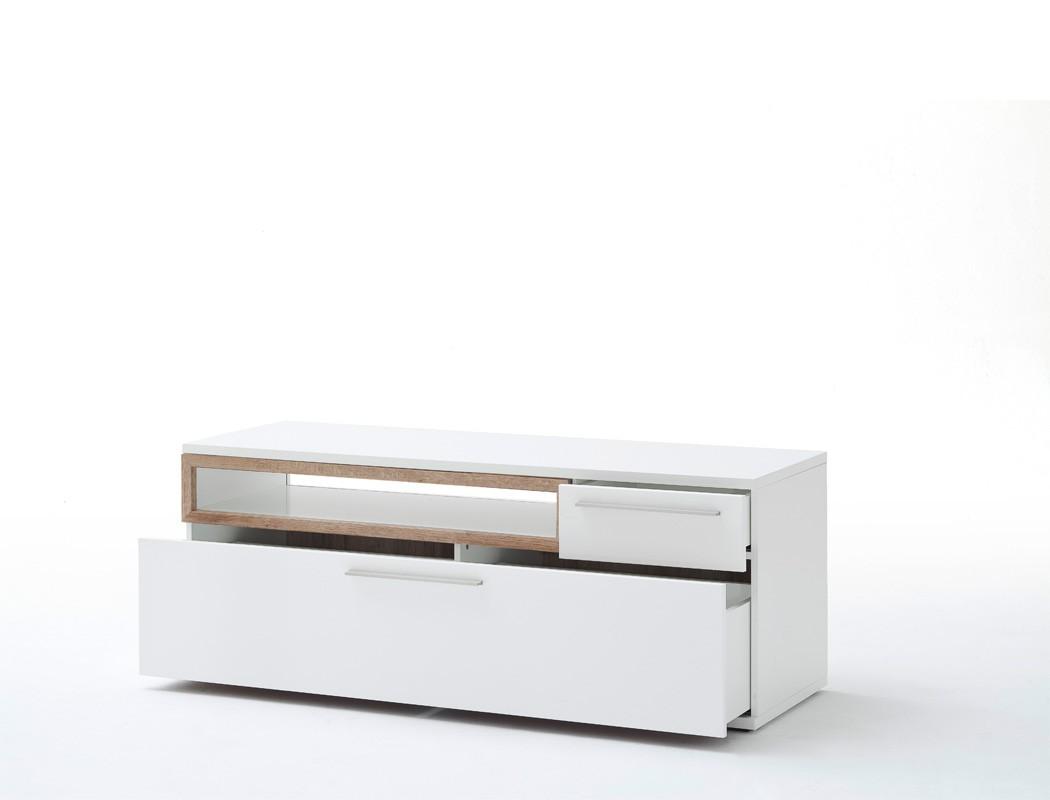lowboard parla 7 wei hochglanz 150x57x50 cm tv m bel tv schrank wohnbereiche wohnzimmer. Black Bedroom Furniture Sets. Home Design Ideas