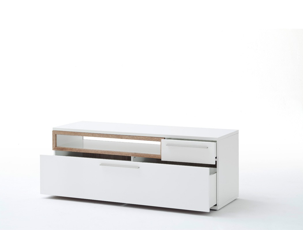 wohnwand parla 20 wei hochglanz 4 teilig medienwand tv. Black Bedroom Furniture Sets. Home Design Ideas
