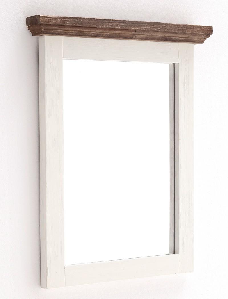 Garderoben spiegel wei struktur akazie 80x75x5 for Garderobe 80 x 200