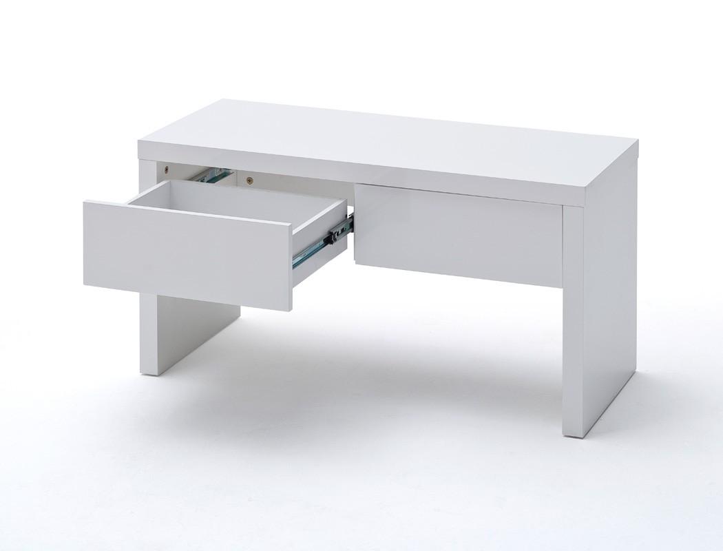 garderobenbank odin 91x48x38 cm hochglanz wei holzbank sitzbank bank wohnbereiche bad. Black Bedroom Furniture Sets. Home Design Ideas