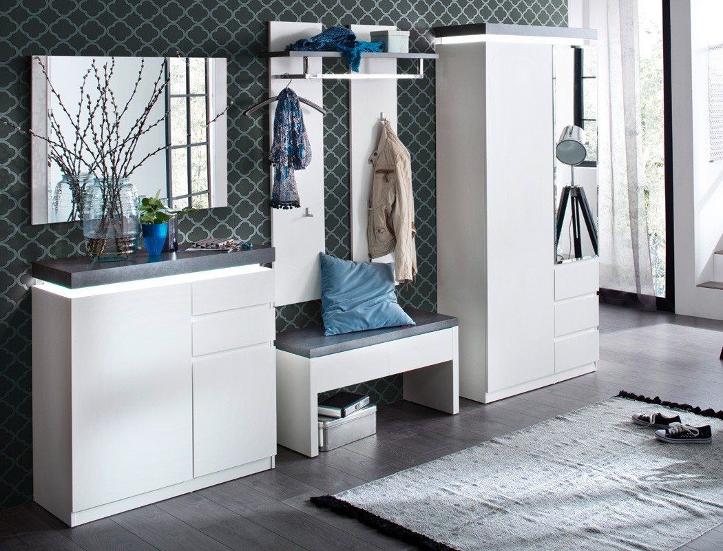 garderobenbank 91x48x38 cm wei holzbank sitzbank bank garderobe flurm bel atlee ebay. Black Bedroom Furniture Sets. Home Design Ideas