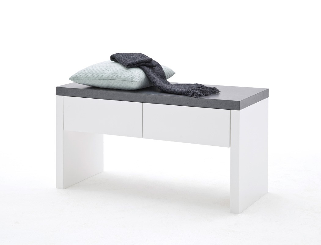 garderobenbank atlee 91x48x38 cm wei holzbank sitzbank bank garderobe wohnbereiche bad. Black Bedroom Furniture Sets. Home Design Ideas