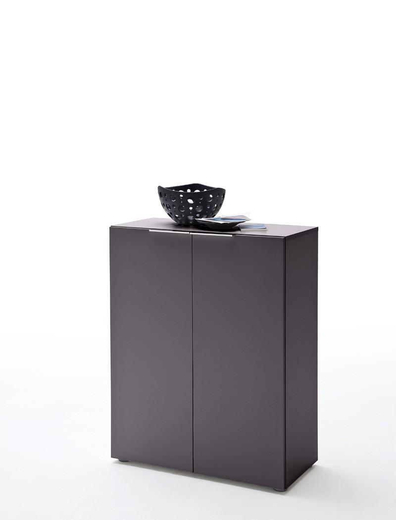 kommode victoria 1 anthrazit 80x101x39 cm sideboard schuhschrank diele wohnbereiche bad. Black Bedroom Furniture Sets. Home Design Ideas