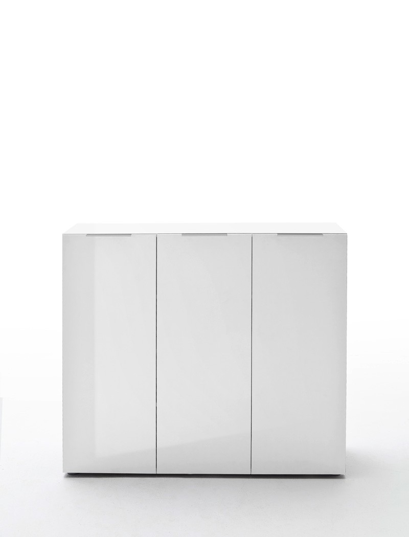 Kommode wei hochglanz 120x101x39 cm sideboard garderobe for Schuhschrank breite 120 cm