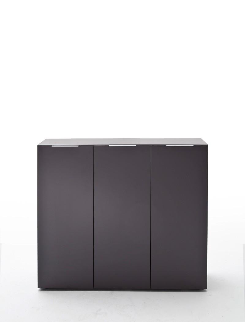 kommode anthrazit 120x101x39 cm sideboard garderobe schuhschrank flur victoria 2 ebay. Black Bedroom Furniture Sets. Home Design Ideas