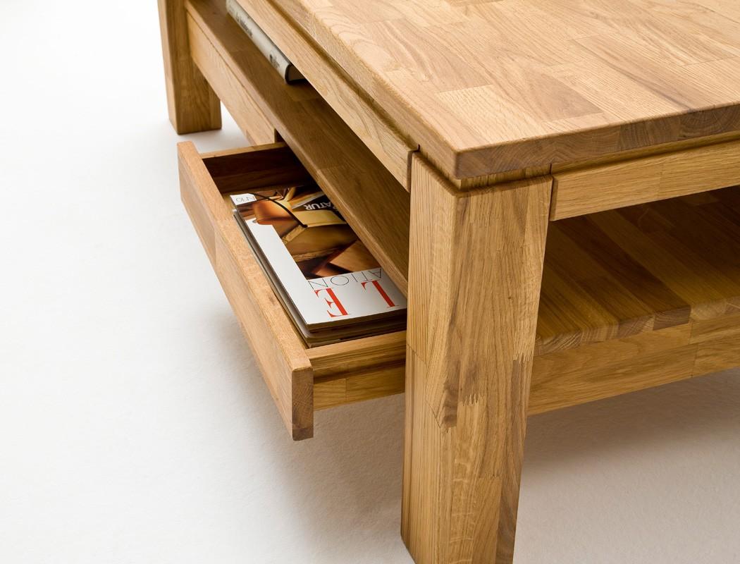 couchtisch 115x70x45cm eiche massiv sofatisch beistelltisch wohnzimmertisch goro ebay. Black Bedroom Furniture Sets. Home Design Ideas