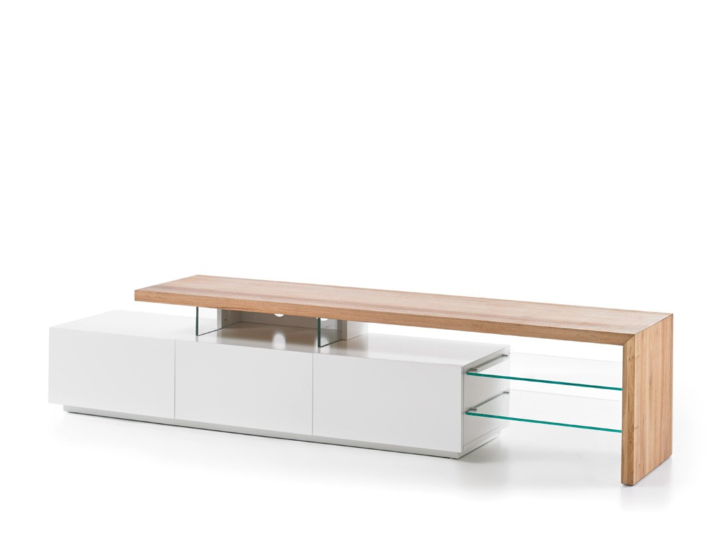 lowboard alessa i 204x40x44 cm wei eiche tv board tv. Black Bedroom Furniture Sets. Home Design Ideas