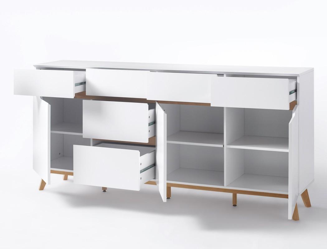 Sideboard celio 5 wei eiche 193x95x40 cm anrichte schrank for Wohnzimmer anrichte